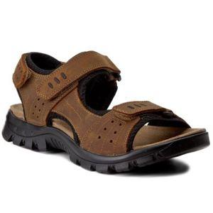 Sandály Cesare Cave MP40-MN601 Přírodní kůže - nubuk,Textilní materiál