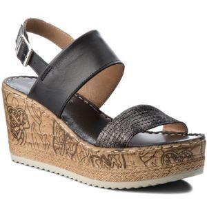 Sandály Lasocki H211 Pravá kůže - lesklá kůže,Přírodní kůže - semiš,Přírodní kůže - lícová