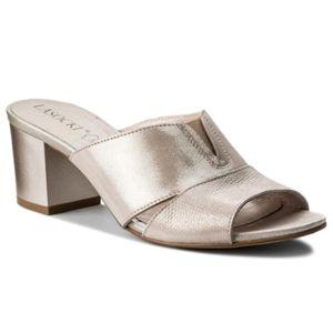 Pantofle Lasocki 70761-03 Pravá kůže - lesklá kůže,Přírodní kůže - semiš