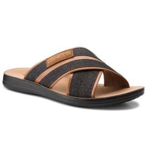 Pantofle Lanetti MS17019-1 Textilní materiál,Ekologická kůže