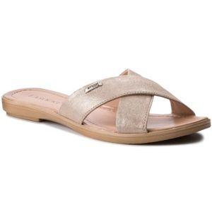 Pantofle Lasocki OCE-1807-06 Pravá kůže - lesklá kůže,Přírodní kůže - semiš