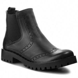 Kotníkové boty Lasocki L399 Přírodní kůže (useň) - Lícová