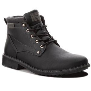 Šněrovací obuv Lanetti MP07-16860-03BIG Textilní,Ekologická kůže