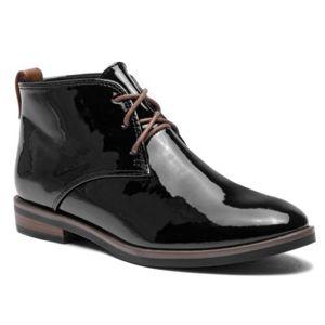Šněrovací obuv Jenny Fairy LS4666-01 Ekologická kůže