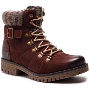 Šněrovací obuv Lasocki WI07-A721-A588-03 Přírodní kůže - nubuk,Textilní materiál,Přírodní kůže - semiš,Přírodní kůže - lícová