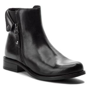 Kotníkové boty Lasocki OCE-DESA-07 Přírodní kůže (useň) - Lícová