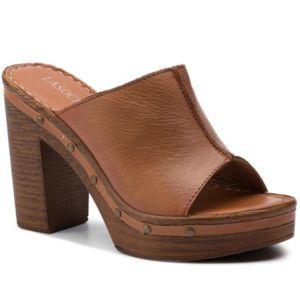Pantofle Lasocki F541 Přírodní kůže (useň) - Lícová