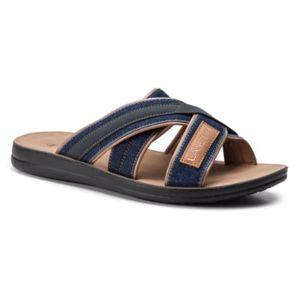 Pantofle Lanetti MS17019-2 Textilní materiál,Ekologická kůže