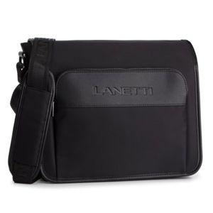 Pánské tašky Lanetti RM0887 Textilní materiál,Ekologická kůže