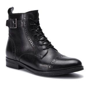 Šněrovací obuv Lasocki WI23-DALIA-07 Přírodní kůže (useň) - Lícová