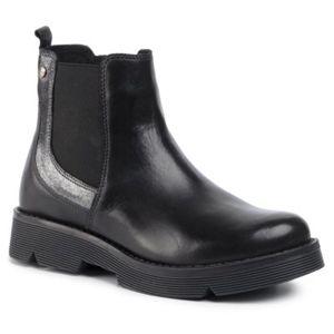 Kotníkové boty Lasocki Young CI12-KOBRA-06 Pravá kůže - lesklá kůže,Přírodní kůže - semiš,Přírodní kůže - lícová