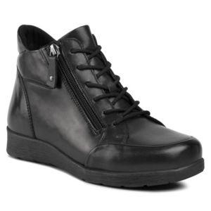 Šněrovací obuv GO SOFT WI23-ULA-01 Přírodní kůže - lícová