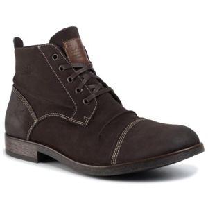 Šněrovací obuv Lanetti MBS-JOSEPH-01 Ekologická kůže