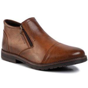 Kotníkové boty Lanetti MBS-ORKAN-01 Ekologická kůže