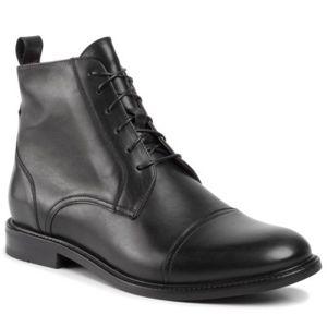 Kotníkové boty Gino Rossi MTU417-CHUCK-05 Přírodní kůže - lícová