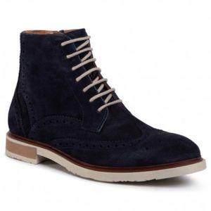 Šněrovací obuv Gino Rossi MI07-A966-A795-04 Přírodní kůže - semiš