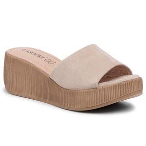Pantofle Lasocki 2214-04 Přírodní kůže (useň) - Semiš
