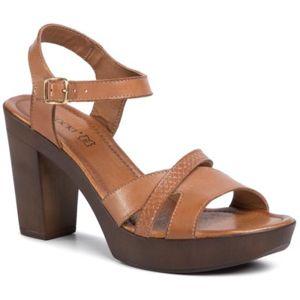 Sandály Lasocki 2025-02 Přírodní kůže (useň) - Lícová