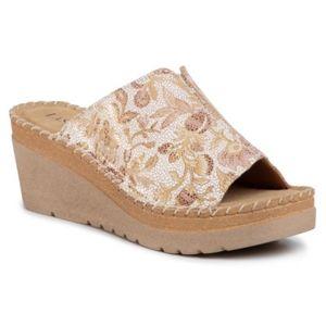 Pantofle Lasocki ARC-4777-01 Pravá kůže - lesklá kůže,Přírodní kůže - semiš