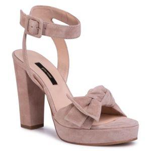 Sandály Gino Rossi A45185-01 Přírodní kůže - semiš