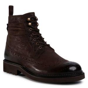 Šněrovací obuv Gino Rossi MI08-C773-770-01 Přírodní kůže - lícová
