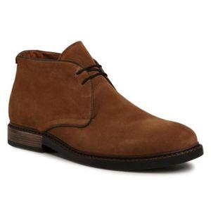 Šněrovací obuv Gino Rossi MI08-C641-633-07 Přírodní kůže - semiš