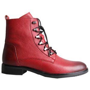 Šněrovací obuv Lasocki WI23-DALIA2-04 Přírodní kůže (useň) - Lícová