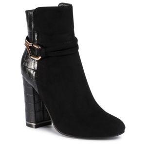 Kotníkové boty Jenny Fairy WS19028-01 Textilní,Ekologická kůže