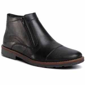 Kotníkové boty Rieker 35381-00 Přírodní kůže (useň) - Lícová