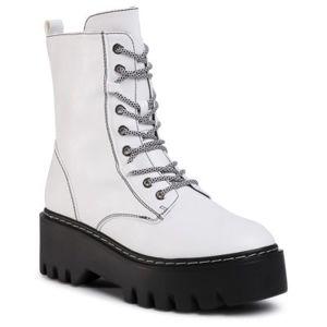 Šněrovací obuv DeeZee WS5162-02 Ekologická kůže /-Ekologická kůže