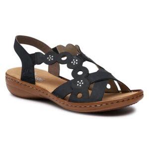 Sandály Rieker 60865-14 Přírodní kůže (useň) - Nubuk
