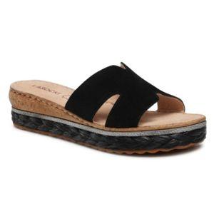 Pantofle Lasocki S601 Přírodní kůže (useň) - Semiš